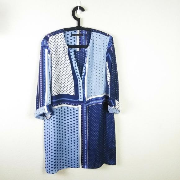 Zara Tops - Zara Basic Goemtric Printed Shirt